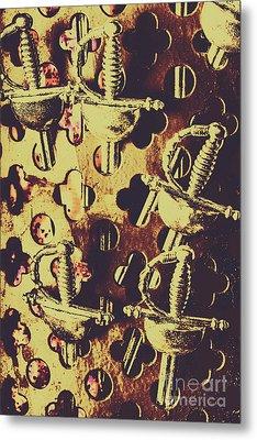 Helm Of Antique War Metal Print