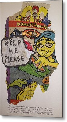 Help Me Please Metal Print by William Douglas
