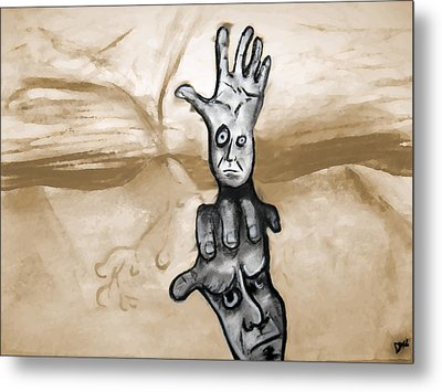 Helping Hand Metal Print by Jacob Smith
