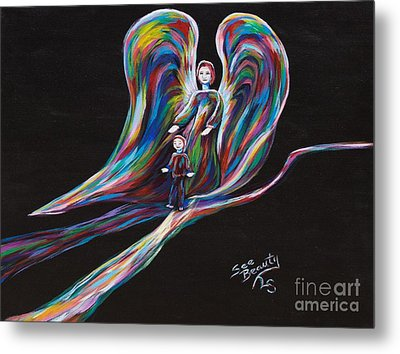 Helping Your Journey Metal Print by Lynne Sanchez
