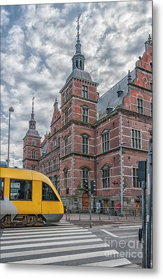 Metal Print featuring the photograph Helsingor Train Station by Antony McAulay