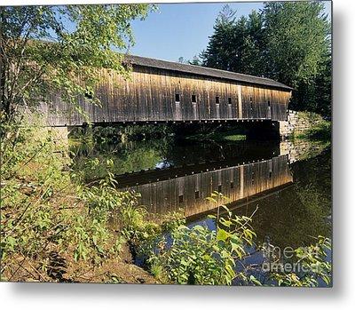 Hemlock Covered Bridge - Fryeburg Maine Usa. Metal Print by Erin Paul Donovan