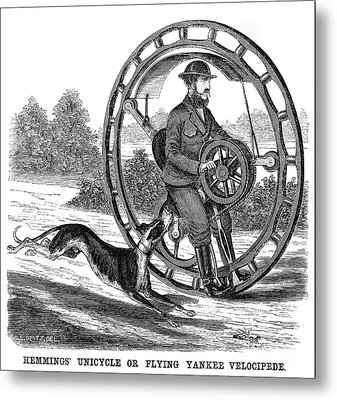 Hemmings Unicycle, 1869 Metal Print by Granger
