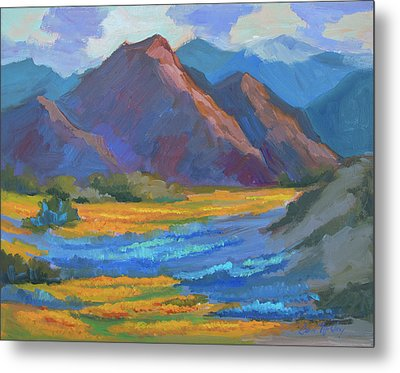 Metal Print featuring the painting Henderson Canyon Borrego Springs by Diane McClary