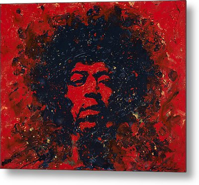 Hendrix Metal Print by Chris Mackie