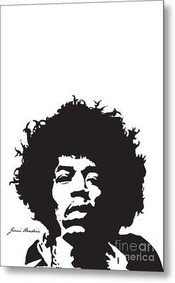 Hendrix No.01 Metal Print by Caio Caldas