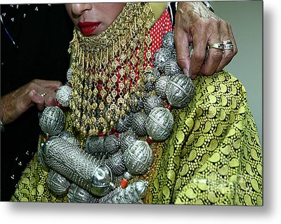 Henna Ceremony  Metal Print by Chen Leopold