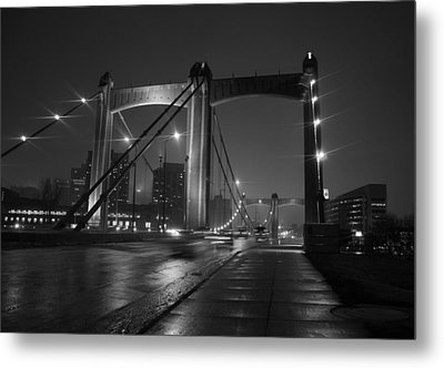 Hennepin Avenue Bridge Metal Print by Heidi Hermes