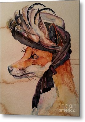 Metal Print featuring the painting Henrietta Fox by Christy  Freeman