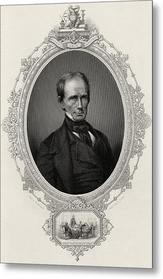 Henry Clay 1777-1852 American Statesman Metal Print by Vintage Design Pics