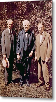 Henry Ford, Thomas Alva Edison, Harvey Metal Print by Everett