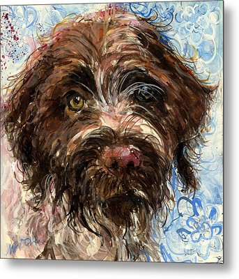 Metal Print featuring the painting Henry by Molly Poole