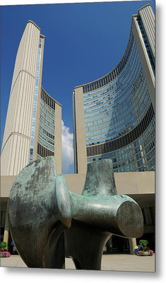 Henry Moore Scultpure Of Archer At Toronto City Hall Metal Print by Reimar Gaertner
