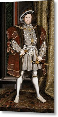 Henry Viii Of England Metal Print by War Is Hell Store