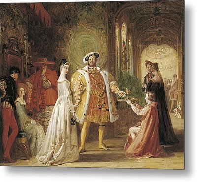 Henry Viiis First Interview With Anne Boleyn Metal Print by Daniel Maclise