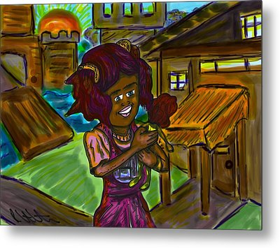 Her Doll Land Metal Print