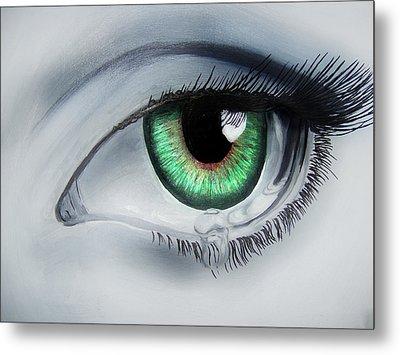 Her Eye Metal Print by Michael McKenzie