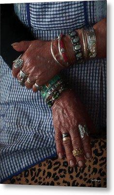 Her Jewelry Metal Print