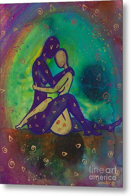 Her Loves Embrace Divine Love Series No. 1006 Metal Print by Ilisa Millermoon