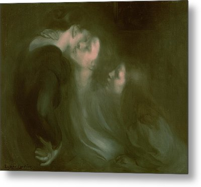 Her Mother's Kiss Metal Print
