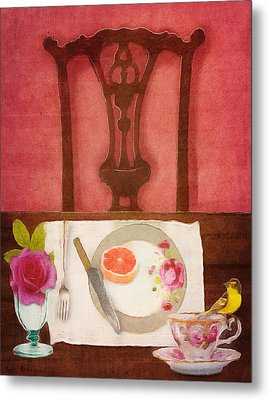 Her Place At The Table Metal Print by Lisa Noneman