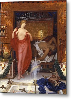 Hera In The House Of Hephaistos Metal Print by William Blake Richmond