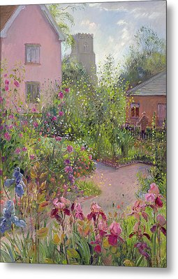 Herb Garden At Noon Metal Print by Timothy Easton