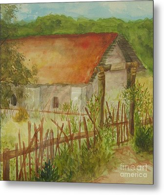 Metal Print featuring the painting Herb Garden by Vicki  Housel