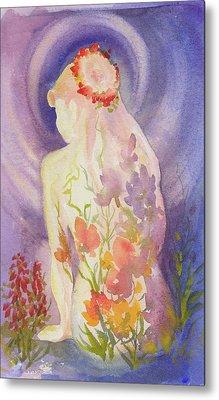 Herbal Goddess  Metal Print