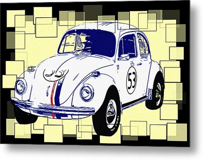 Herbie The Love Bug Metal Print by Bill Cannon