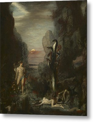 Hercules And The Lernaean Hydra Metal Print by Gustave Moreau