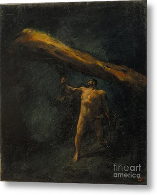 Hercules Searching For The Hesperides Metal Print