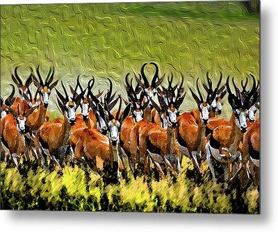 Herd 2 Metal Print by Bruce Iorio