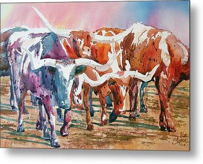 Herd Of Horns Metal Print by Ron Stephens