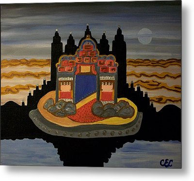 Metal Print featuring the painting Here   He Dwells by Carolyn Cable