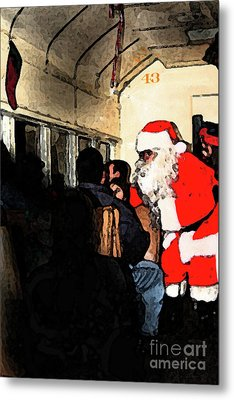 Metal Print featuring the photograph Here Come Santa by Kim Henderson
