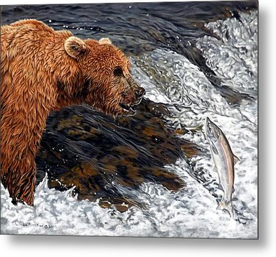 Here Comes Dinner Metal Print by Linda Becker