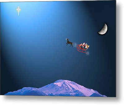 Here Comes Santa   Metal Print by Adele Moscaritolo