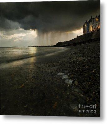 Here Comes The Rain Metal Print by Angel  Tarantella