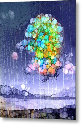 Here Comes The Rain Metal Print by Tara Turner