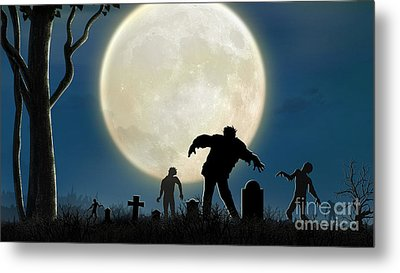 Here Comes The Zombies Metal Print by Bedros Awak