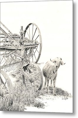 Here Comes Trouble Metal Print by Wendy Mould