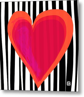 Metal Print featuring the painting Here Is My Heart by Lisa Weedn