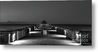 Metal Print featuring the photograph Here It Comes Folly Beach Pier Sunrise Art by Reid Callaway
