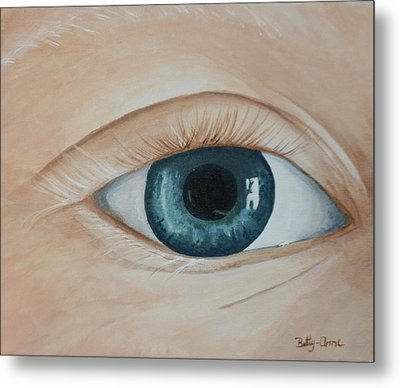 Metal Print featuring the painting Heres Looking At You by Betty-Anne McDonald