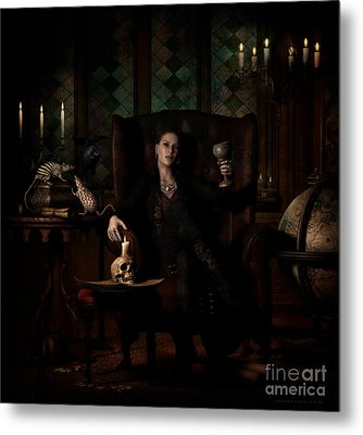 Metal Print featuring the digital art Here's To You by Shanina Conway
