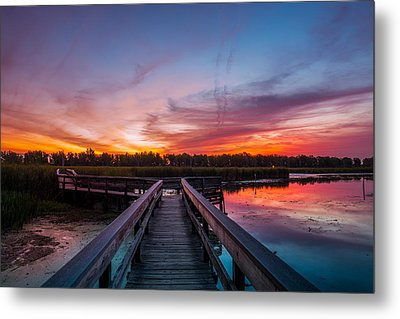 Metal Print featuring the photograph Heritage Boardwalk Twilight by Chris Bordeleau
