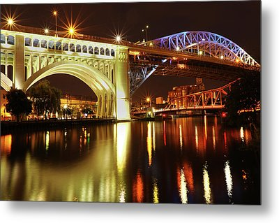 Heritage Park Bridges Metal Print