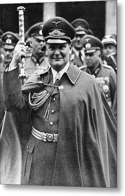 Hermann Goering 1893-1946, Holding Metal Print by Everett