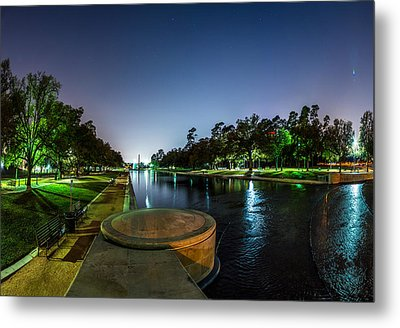 Hermann Park Reflecting Pool In Houston Texas Metal Print
